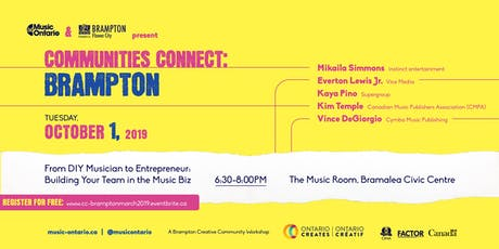 Communities Connect Brampton: Music Publishing, Sync & Licensing tickets