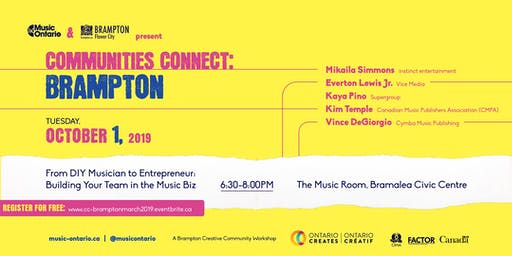 Communities Connect Brampton: Music Publishing, Sync & Licensing