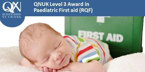 Level 3 Award in Paediatric First Aid (RQF)
