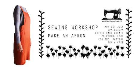 Sewing Workshop - Art Apron - Coffee Cake Create, Polperro, Cornwall tickets