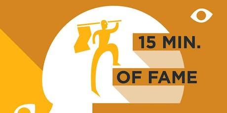 OPEN COFFEE DEN BOSCH  15 Minutes of Fame tickets