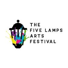The Five Lamps Arts Festival  logo
