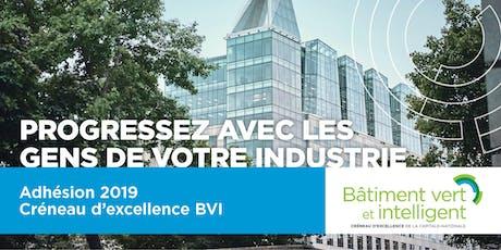 Adhésion 2019 – Créneau d'excellence BVI billets
