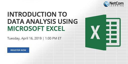 Virtual Event Introduction To Data Ysis Using Microsoft Excel