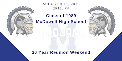 Class of 1989 McDowell High School 30-Year Reunion Weekend