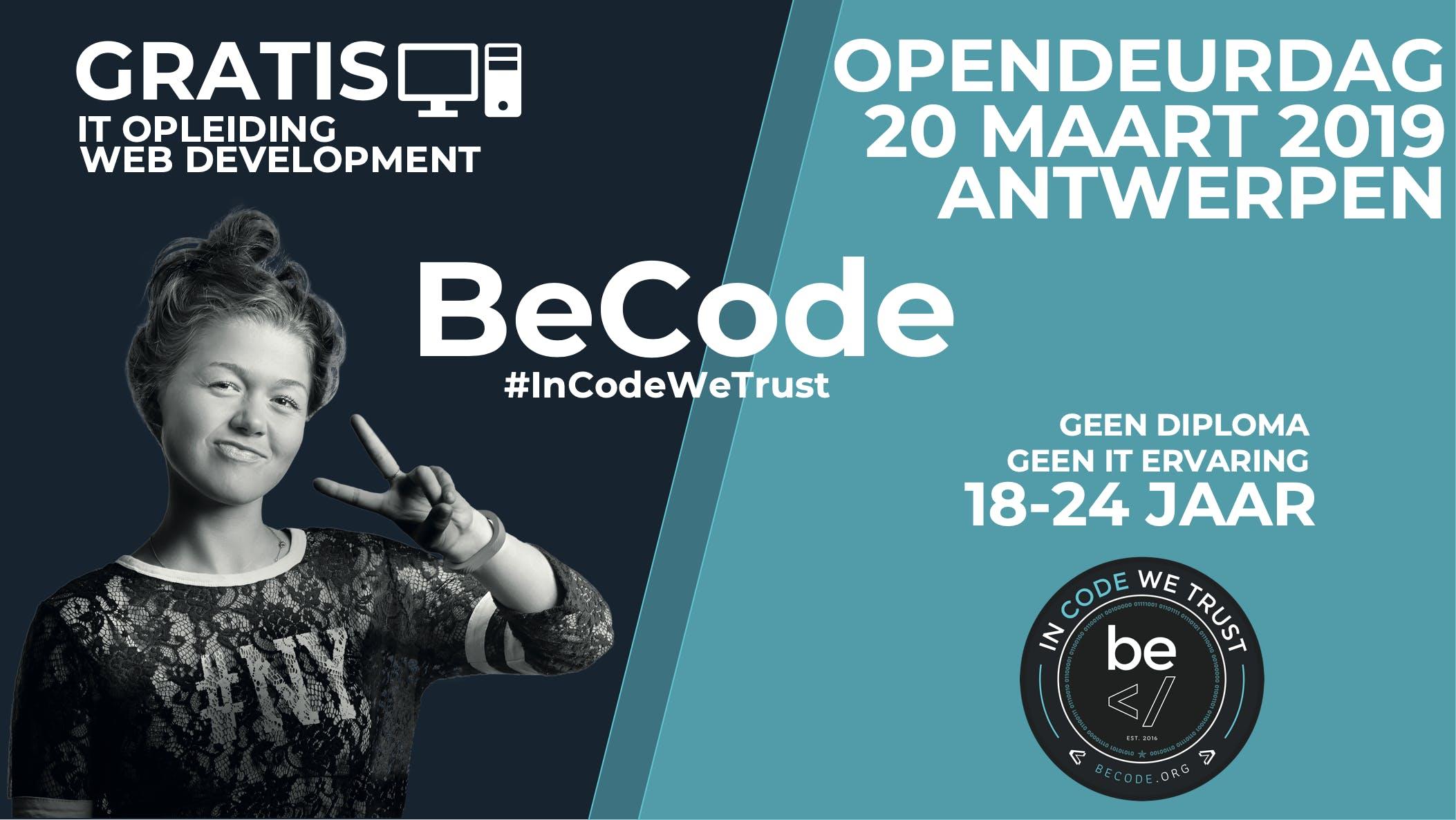Opendeurdag BECODE Antwerpen (Tolhuis/ The be