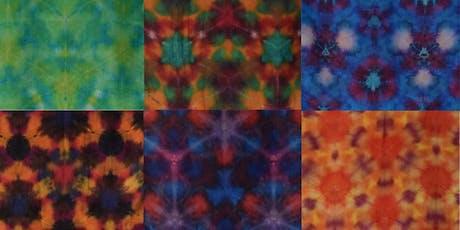Dye a shibori silk scarf tickets
