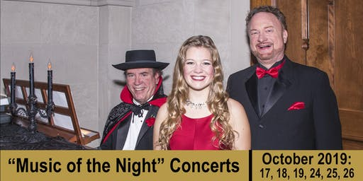 """Music of the Night"" Concert (SATURDAY, 10/19/19)"