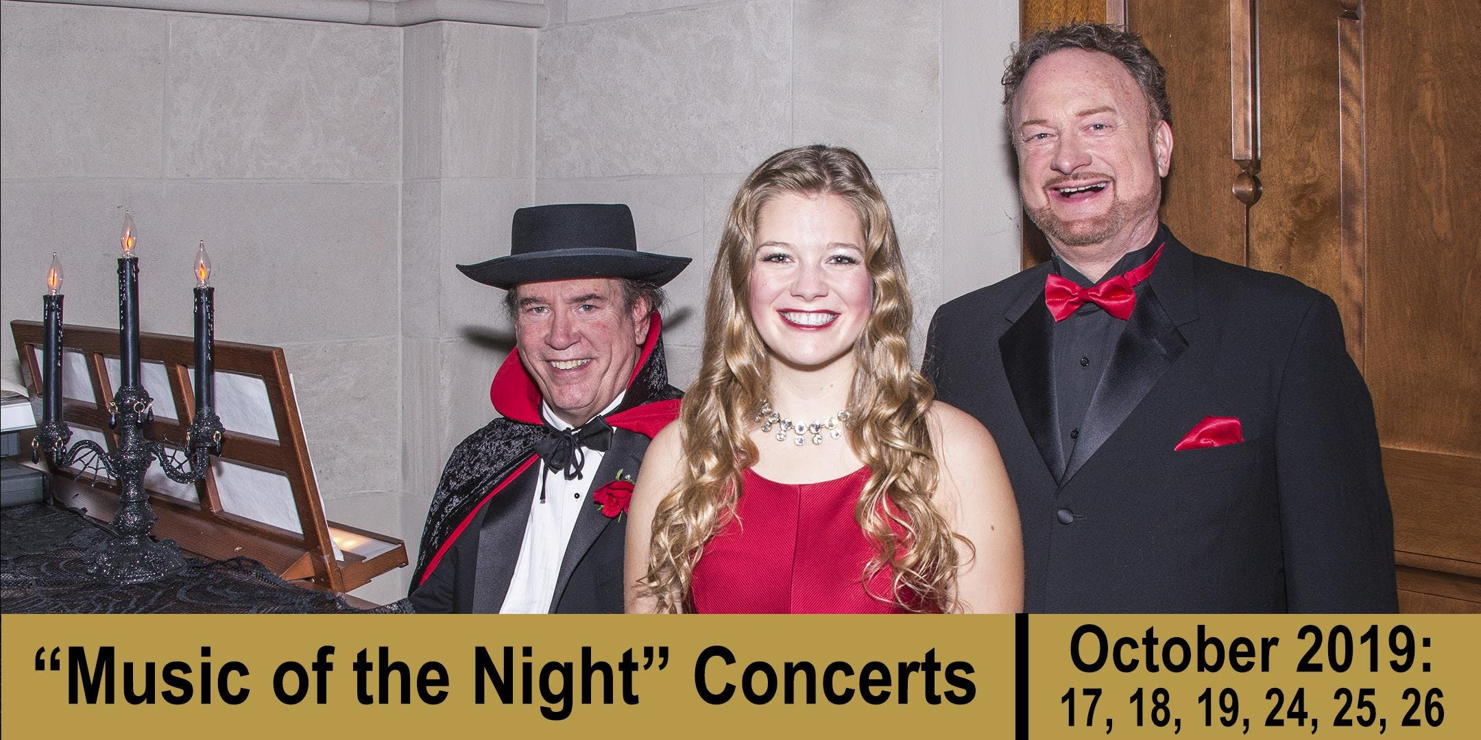 """""""Music of the Night"""" Concert (SATURDAY, 10/26/19)"""