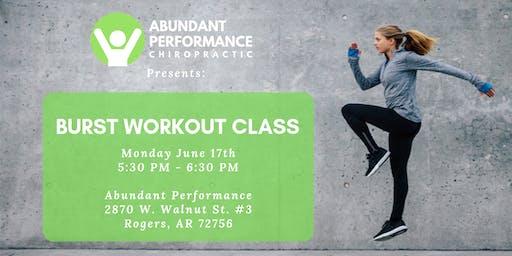 Burst Workout Class