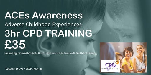 2019 CARLISLE - ACEs Awareness - Adverse Childhood Experiences 3 hrs CPD TRAINING