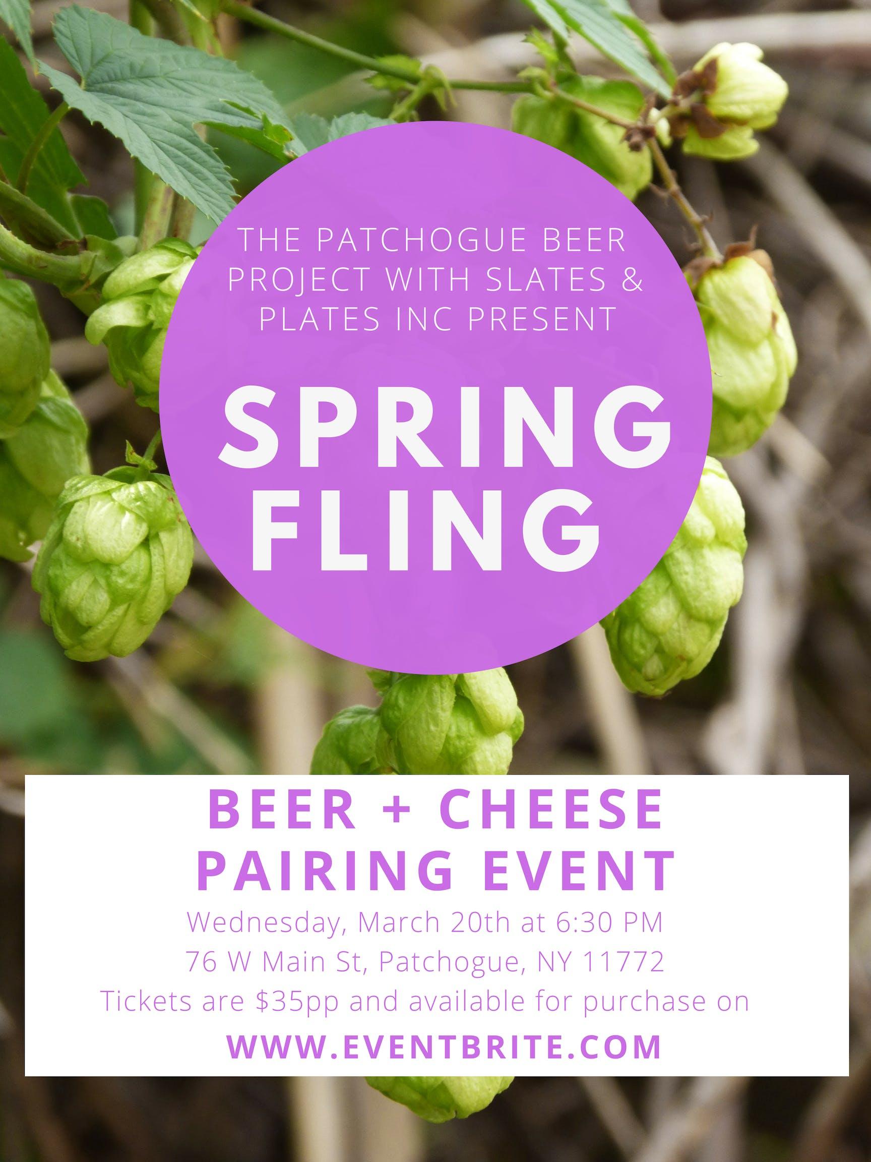 Spring Fling, BEER & CHEESE PAIRING