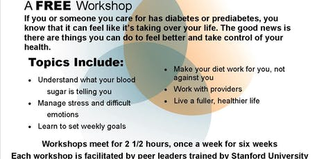 *FREE* Our Pathways to Health Diabetes Self Management Workshop tickets