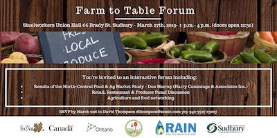 Farm to Table Forum (Sudbury)