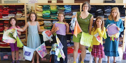 Five Days of Flags - summer upcycle arts camp at Ragfinery