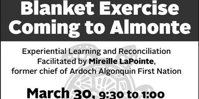Blanket Exercise Coming to Almonte