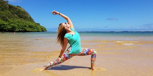 Kauai Yoga on the Beach DAILY class at 8:30am