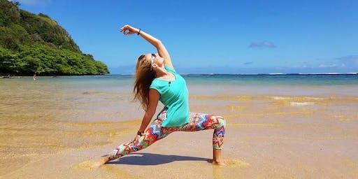 Kauai Yoga on the Beach DAILY class at 8:30am