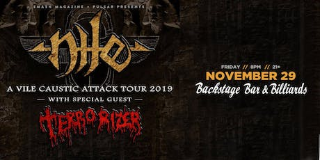 Nile with Terrorizer tickets
