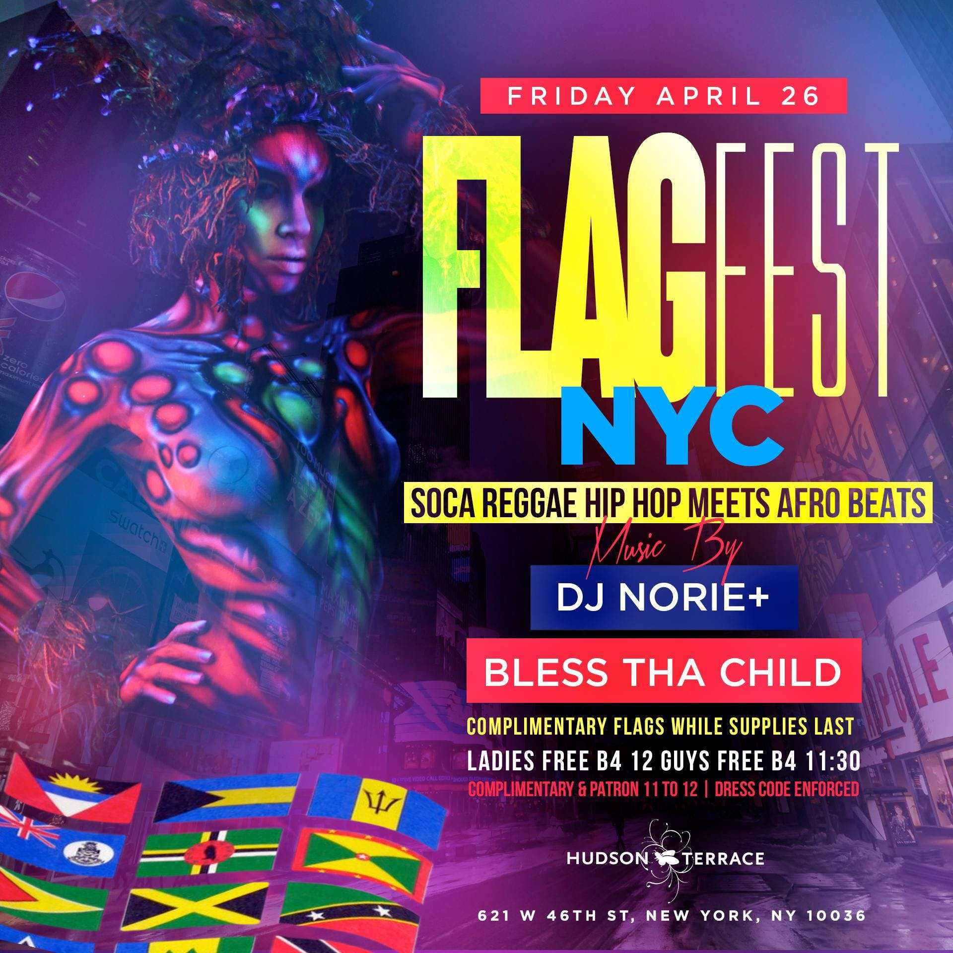 FLAGFEST NYC SOCA/REGGAE/HIPHOP/AFROBEATS REP YOUR FLAG