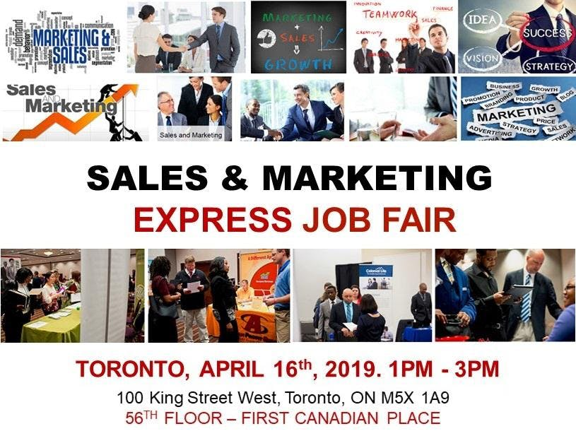 Toronto Sales & Marketing Job Fair - April 16