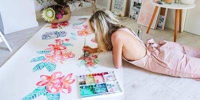 Botanical Watercolour with Cass Deller