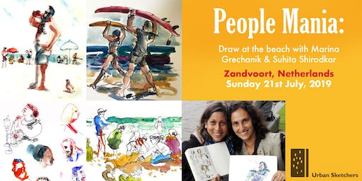 PeopleMania: Draw at the beach with Marina Grechanik and Suhita Shirodkar