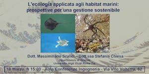 L'ecologia applicata agli habitat marini: prospettive...