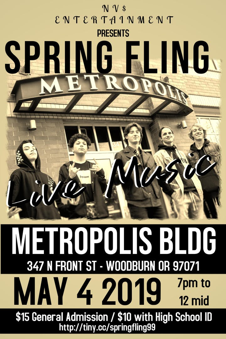 3fb4a1a57e32 SPRING FLING   Live Concert  Featuring Local Artists Tickets