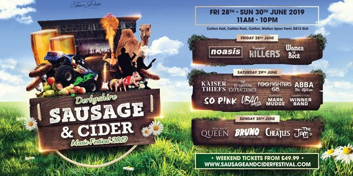 Derbyshire Sausage & Cider Music Festival & Country Show 2019