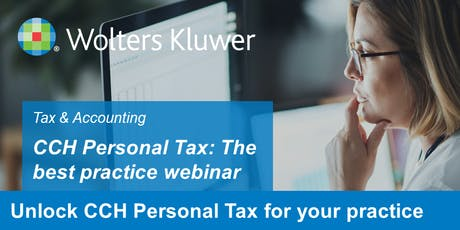 CCH Personal Tax - The best practice webinar tickets