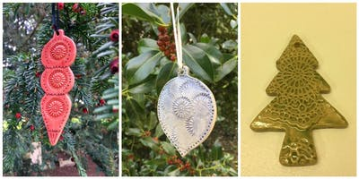 Christmas Craft - make decorations or a Christmas plate with Bourn pottery
