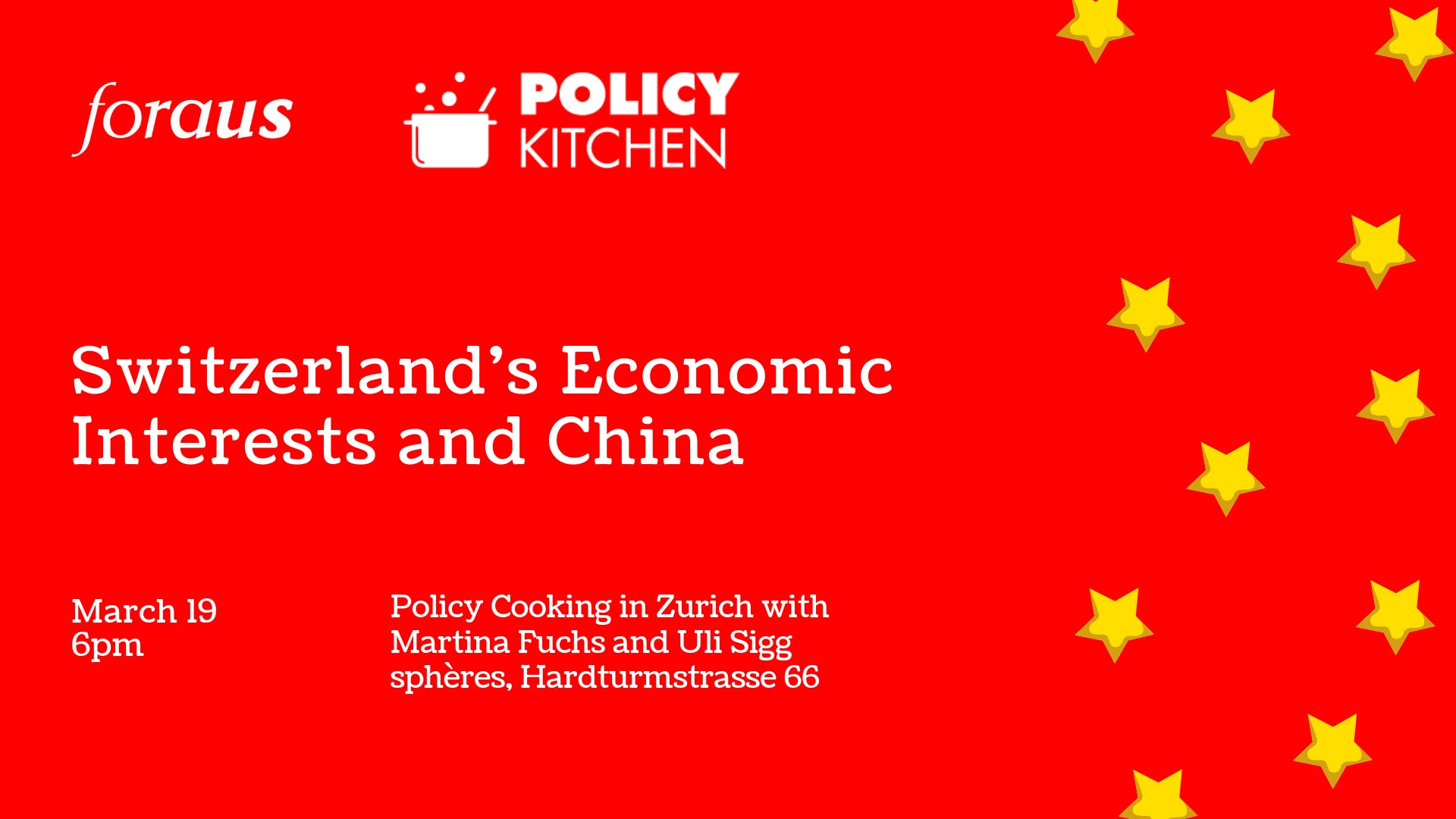 foraus Policy Kitchen China: Policy Cooking in Zurich