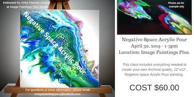 Negative Space Acrylic Pour Workshop