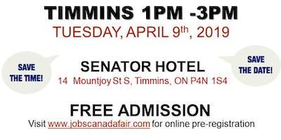 Timmins Job Fair - April 9th, 2019