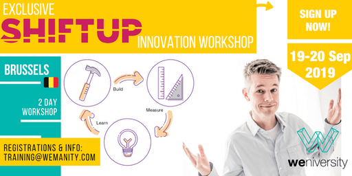Shiftup Business Agility & Innovation Leader (Workshop)- Belgium