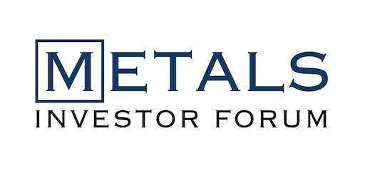 Metals Investor Forum November 15+16, 2019