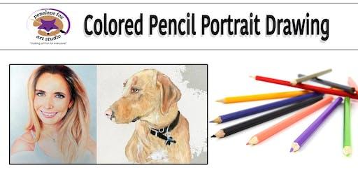 Colored Pencil Human or Animal Portraits.