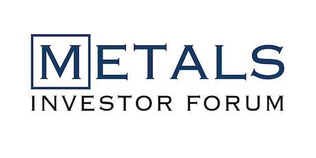 Metals Investor Forum January 17+18, 2020 tickets