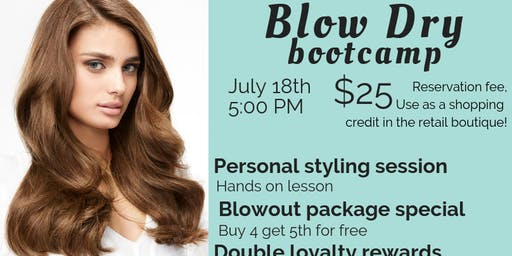 Blow Dry Boot Camp