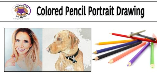 Colored Pencil Human or Animal Portraits.