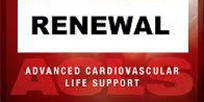 AHA ACLS Renewal October 14, 2019  (INCLUDES Provider Manual and FREE BLS!) from 9 AM to 3 PM at Saving American Hearts, Inc. 6165 Lehman Drive Suite 202 Colorado Springs, Colorado 80918.