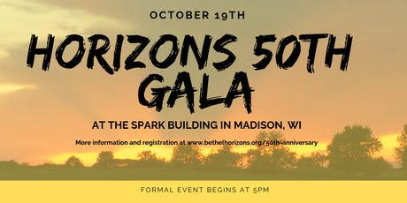 Bethel Horizons 50th Gala tickets