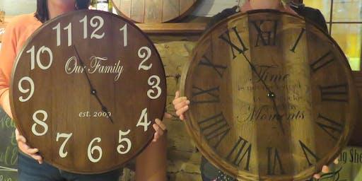 Make a Wine Barrel Clock