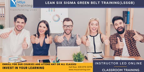 Lean Six Sigma Green Belt Certification Training In Hervey Bay, QLD tickets