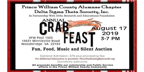 Prince William County Alumnae Chapter of Delta Sigma Theta Sorority, Inc. 2019 Crab Feast tickets