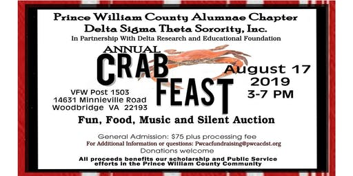 Prince William County Alumnae Chapter of Delta Sigma Theta Sorority, Inc. 2019 Crab Feast