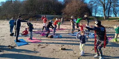 Family Beach Yoga - Fife