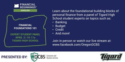 Financial Foundations 101 - Expert Student Panel at Tigard High School