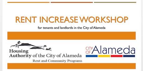 City of Alameda Rent Increase Workshop tickets
